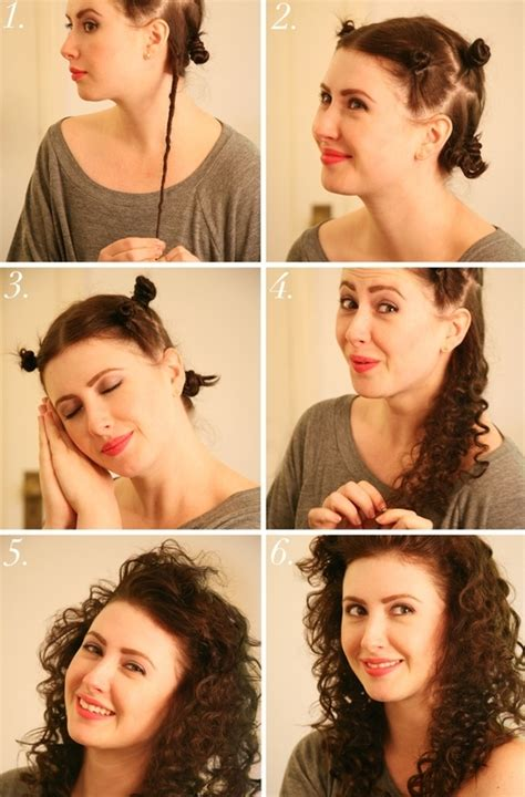 cute hairstyles without heat super curly no heat hair 34 honestly good heatless