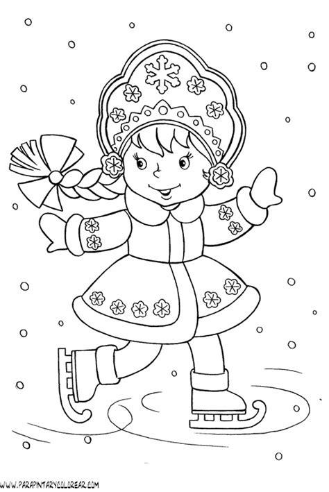 imagenes para colorear vacaciones de invierno colorea el invierno imagui