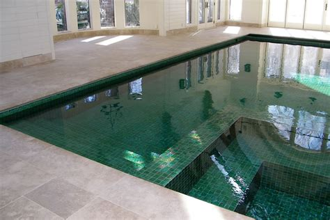 residential indoor pool indoor pool with custom tile residential pool design by