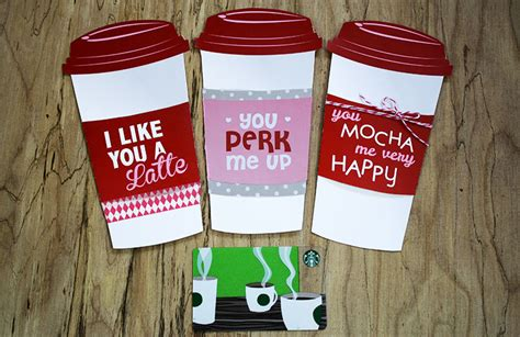 Starbucks Gift Card Holder - free printable grande or venti valentine gift card holder gcg