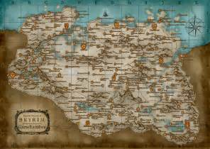 complete map of skyrim map large and detailed skyrim tips tricks and