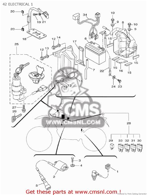 yamaha wr 125 fuse box wiring diagram with description