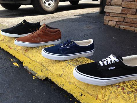 new shoes vans and emerica phatman boardshop
