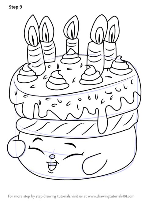 shopkins wishes coloring page learn how to draw wishes from shopkins shopkins step by