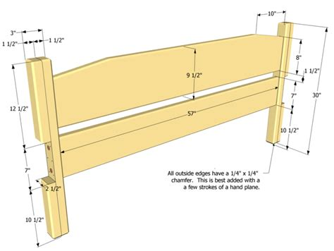 bed frame and headboard plans woodideas