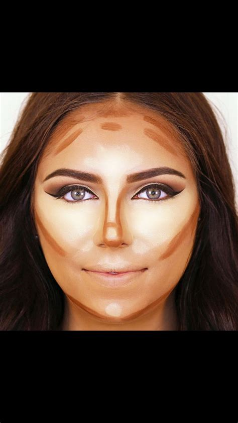 how do a contour hairstyle contour for rounded faces makeup pinterest