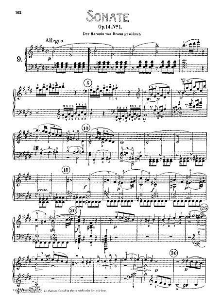 beethoven sonata para piano n 9 en mi mayor piano sonata no 9 piano partituras cantorion