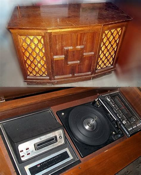 electrophonic record player cabinet vtg electro phonic console stereo radio 8track turntable