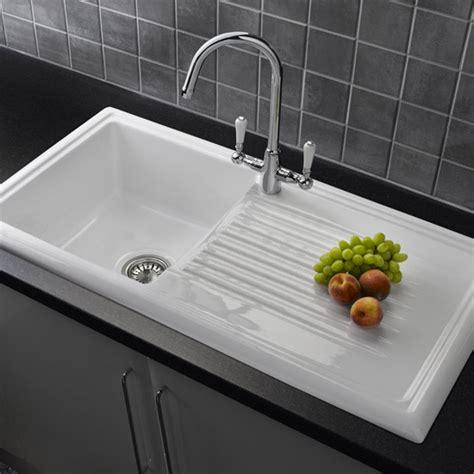 reginox white ceramic  bowl kitchen sink  mixer tap