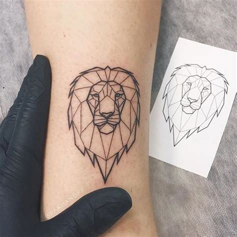 geometric lion tattoo best 25 ideas on leo tattoos