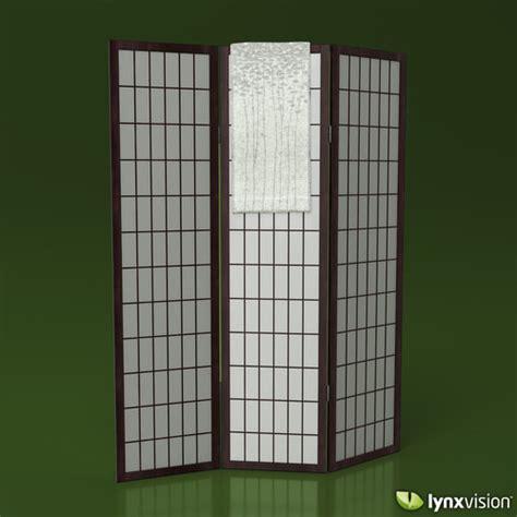 Paper Screen - shoji rice paper screen and towel 3d model max obj fbx