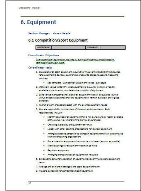 application user manual template operations manual event planning uploaddubai