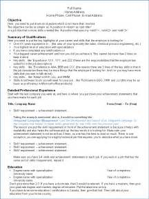 Resume Sles In Canada Canadian Format Of Resume
