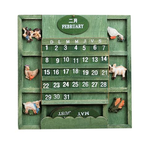 Calendario Perpetuo Shop Wood Perpetual Calendar Promotion Shop For Promotional