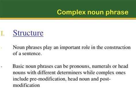Modification Of Noun Phrase by Noun Phrases
