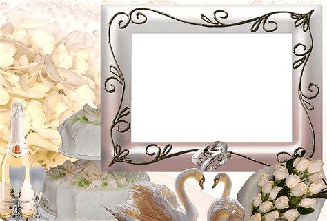imagenes en png para bodas marco foto para boda con cisnes y alianzas descargar marcos
