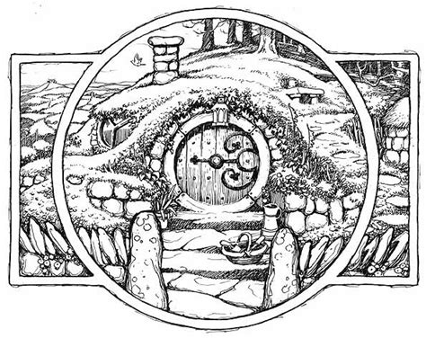 hobbit house coloring page black and white quot the hobbit quot movie part i