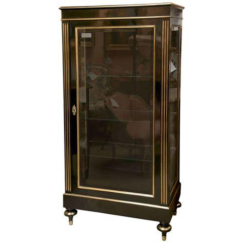 napoleon style ebonized vitrine cabinet at 1stdibs
