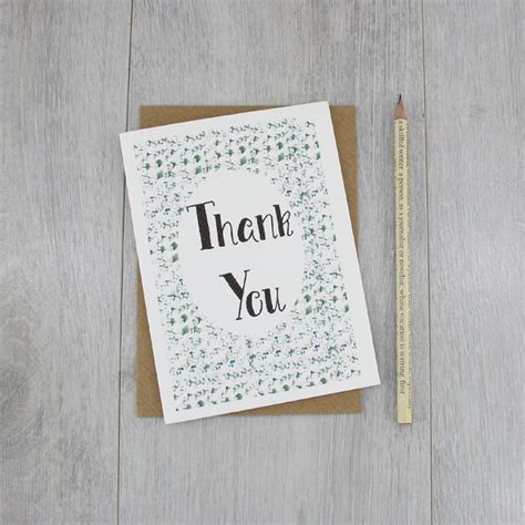 Handmade Thank You Card Designs - thank you card handmade in ireland by six0six design