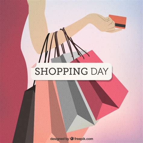 shopping for s day shopping day vector free