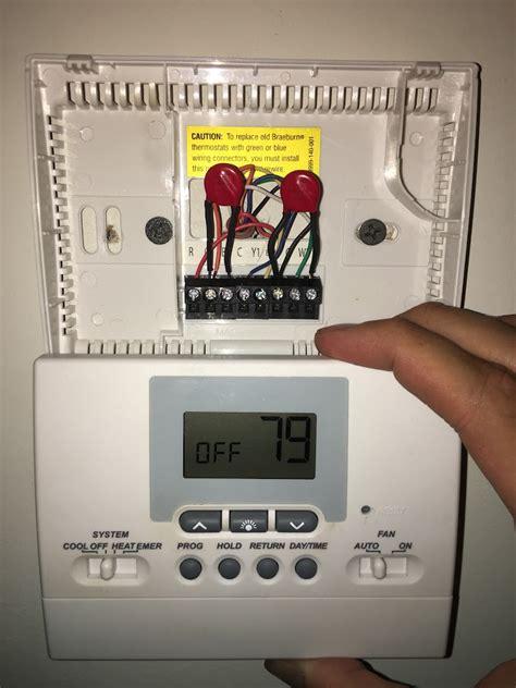 wiring diagram for braeburn thermostat k
