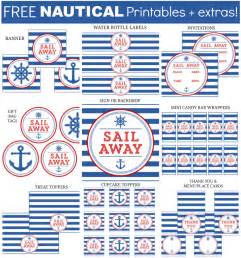 nautical baby shower free printables 8 best images of free printable nautical theme