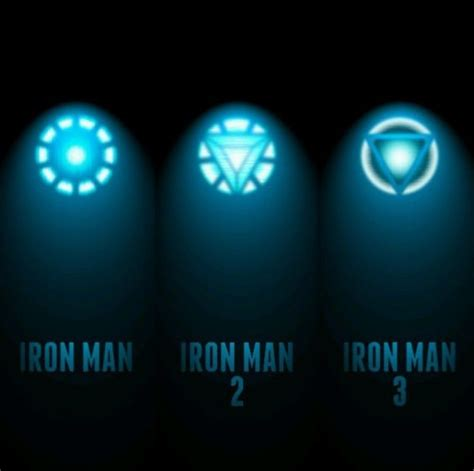 arc reactor iron man evolution pinterest