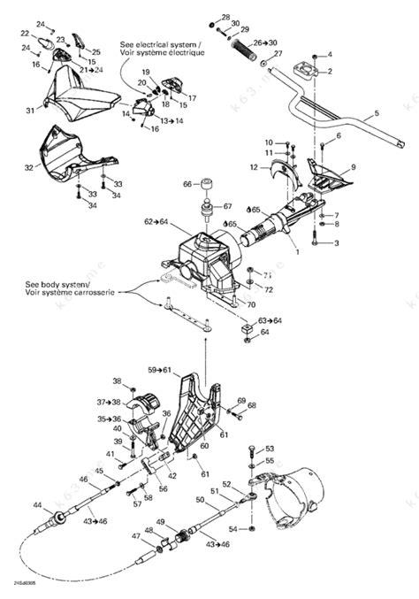 seadoo parts diagram sea doo 2003 gtx gtx 4 tec steering system parts catalog