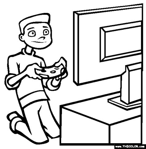 coloring pages for video games boy playing video game coloring pages for kids coloring