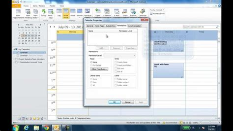 remove doodle calendar from outlook add or remove permissions to the outlook 2010 calendar
