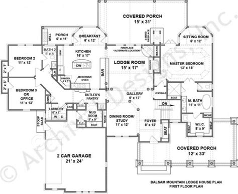 Mountain Lodge Floor Plans by Balsam Mountain Lodge Rustic House Plans Luxury Home Plans
