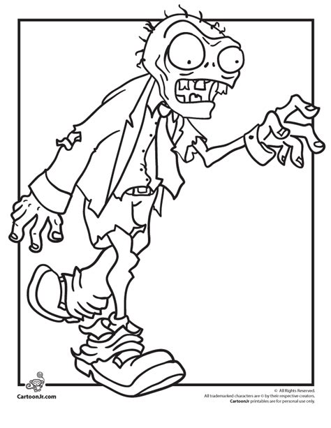 printable coloring pages zombies free creepy zombie coloring pages