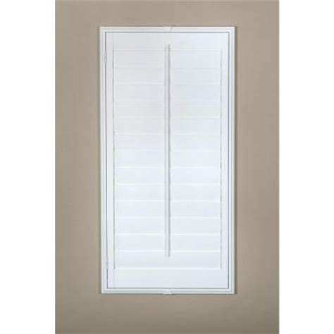 Hton Bay Plantation 3 1 2 In Louver Off White Real Home Depot Window Shutters Interior