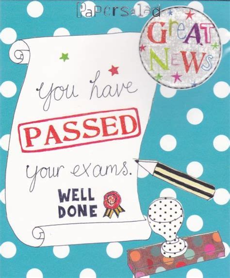examination success card templates great news you your exams card karenza paperie