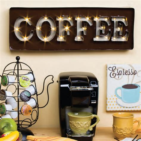 Metal Canisters Kitchen by Lone Elm Studios Lighted Coffee Sign 92372