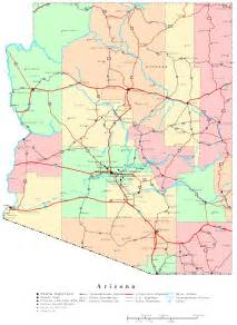 map of the state of arizona arizona map