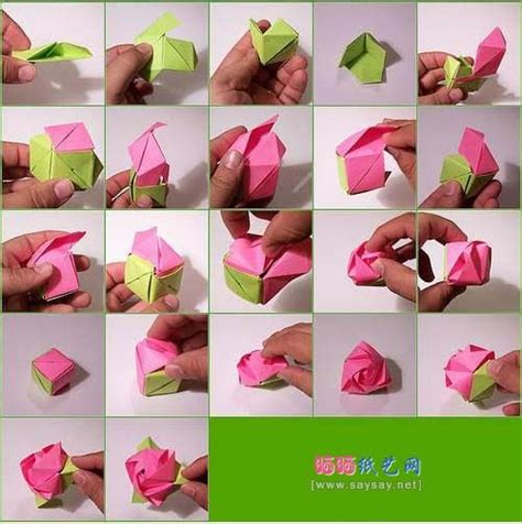 How Make A Origami Flower - cube instructionsorigami magic cubeorigami diagram