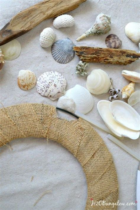 diy crafts with seashells diy seashell and driftwood wreath seashells driftwood wreath and diy and crafts