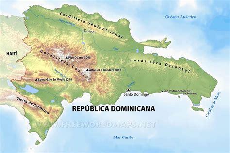 imagenes satelitales republica dominicana mapa f 237 sico de rep 250 blica dominicana geograf 237 a de