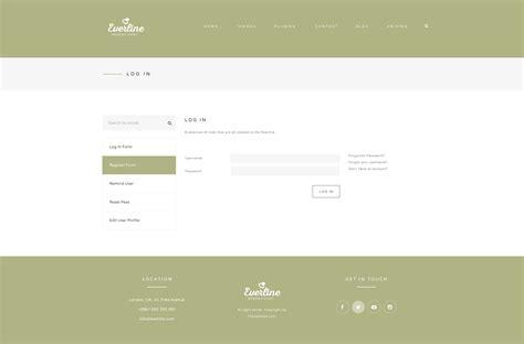 themeforest login page wedding event everline wordpress theme by templaza