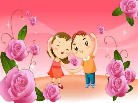 gambar kartun romantis  lucu  imut kumpulan