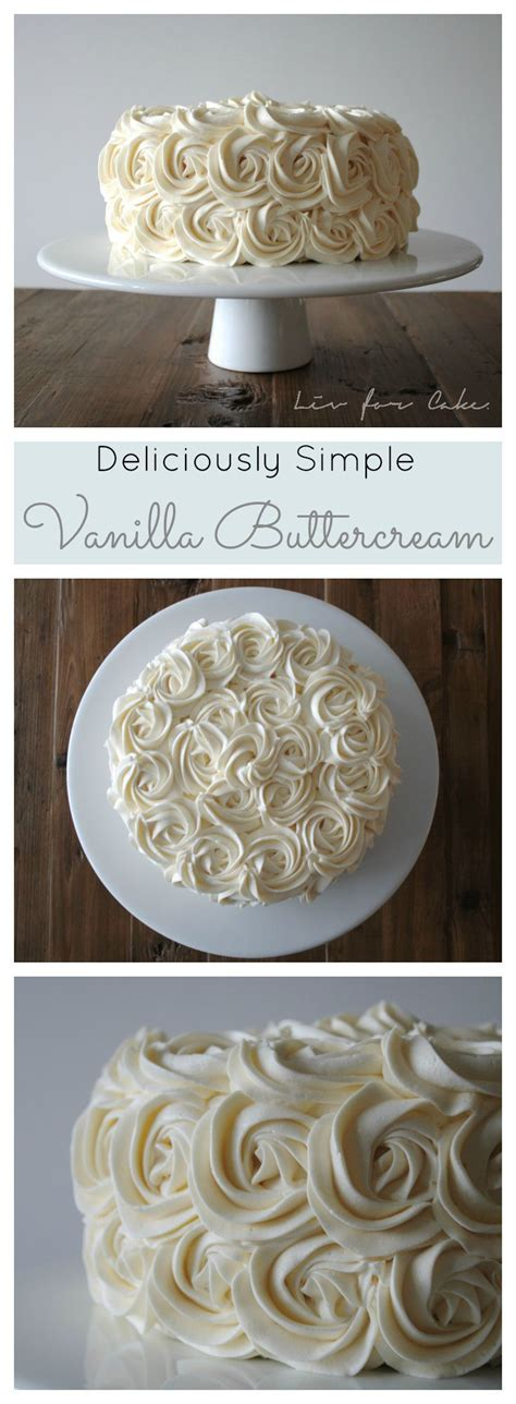 This simple Vanilla Buttercream is one of they best I've