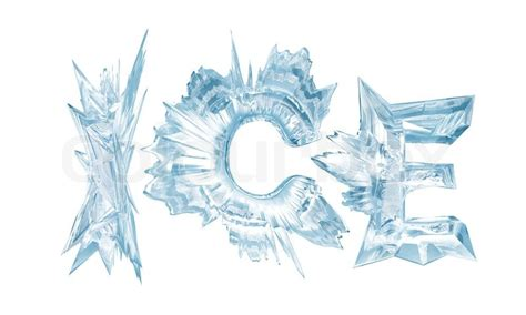 0007580916 the world of ice and ice crystal letters the word ice stock photo colourbox