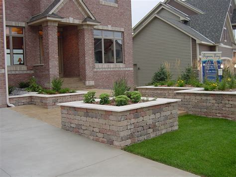 Planter Ideas For Front Of House by Large And Square Brick Wall Planter Box Combined