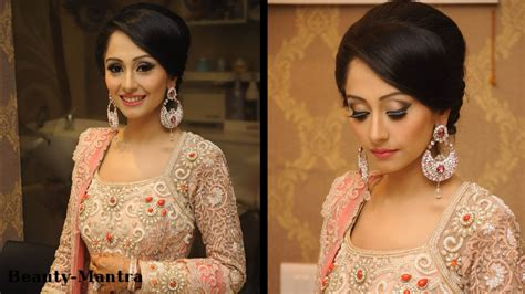 indian hairstyles for evening party wedding makeup ideas simple classy reception look youtube
