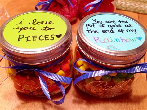 Skittles Jar jar of reese s pieces and jar of skittles with gold