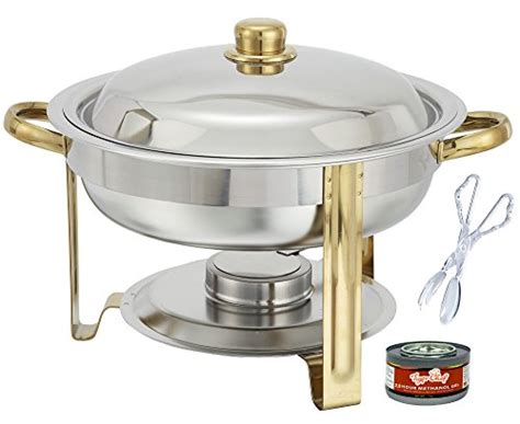 buffet warmer set tiger chef 4 quart chafing dish buffet warmer set gold accented chafer includes free
