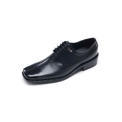 flat dress shoe mens flat square toe leather dress shoes
