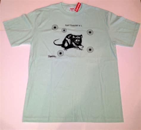 vintage supreme clothing supreme rat target t shirt light blue size xl deadstock