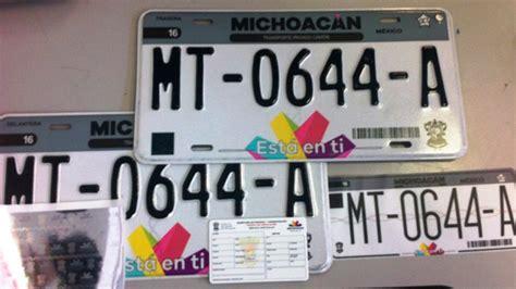 diseo de las nuevas placas de michoacan entregan primer lote de placas abc de michoac 225 n